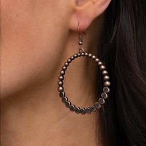 Paparazzi Rustic Society Copper Earrings